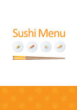Sushi menu template Stock Images
