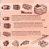 Sushi menu Royalty Free Stock Photography