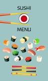 Sushi menu template. Japanese cuisine Stock Photography
