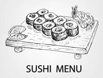 Sushi menu Royalty Free Stock Images