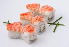 Sushi met garnalen Stock Foto's