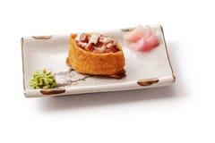 Sushi met octopus en gember Royalty-vrije Stock Foto's