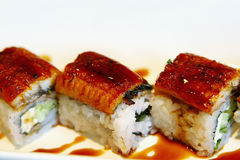 Sushi met paling royalty-vrije stock afbeelding