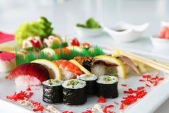 Sushi mezclado de lujo Fotografía de archivo