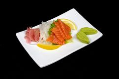 Sushi-mi from calmon. Japanese kitchen Royalty Free Stock Photo