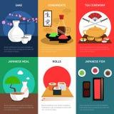 Sushi Mini Poster Set Stock Photography