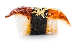 Sushi mit Aal Lizenzfreie Stockfotos