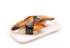 Sushi mit Aal Lizenzfreie Stockfotografie