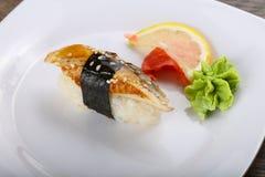 Sushi mit Aal Lizenzfreie Stockbilder