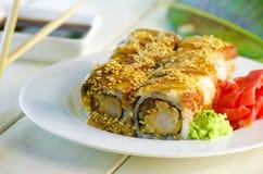 Sushi mit Aal Stockbilder