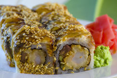 Sushi mit Aal Lizenzfreies Stockbild