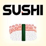 Sushi mit einer Krake Stockfoto