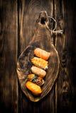 Sushi mit Garnele, Aal und geräuchertem Lachs Lizenzfreie Stockfotografie