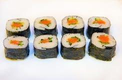 Sushi mit roten Fischen 3 Lizenzfreie Stockfotografie