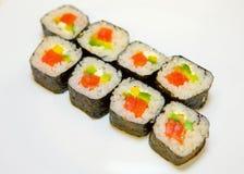 Sushi mit roten Fischen 10 Stockfotografie
