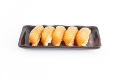 Sushi mit weißem Hintergrund Stockfotografie