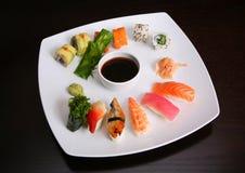 Sushi mix. Japanese sushi food mix set royalty free stock image