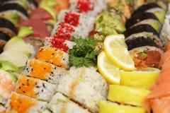 Sushi mix. A fresh platter of sushi Royalty Free Stock Photography