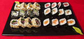 Sushi mix on a plate Royalty Free Stock Image