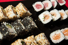 Sushi mix on a plate Stock Photography