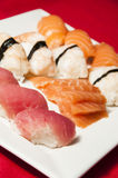 Sushi mix on a plate Stock Photo