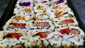 Sushi motion 4K stock footage