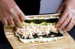 Sushi nahes hohes bilden Lizenzfreie Stockfotos