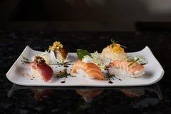 Sushi nigire set Royalty Free Stock Photos