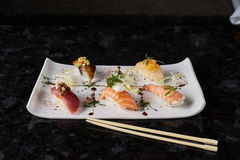 Sushi nigire set Stock Photos