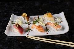Sushi nigire set Royalty Free Stock Photo