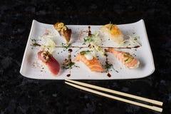 Sushi nigire set Royalty Free Stock Image