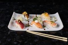 Sushi nigire set Stock Images