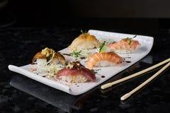 Sushi nigire set Royalty Free Stock Images