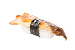 Sushi nigiri with fried eel isolated Stock Images