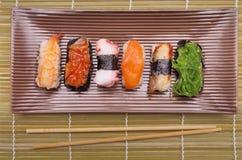 Sushi nigiri, Japanese cuisine Royalty Free Stock Images