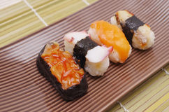 Sushi nigiri, Japanese cuisine Stock Image