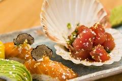 Sushi nigiri on plate Stock Photography