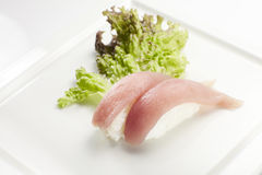 Sushi nigiri with tuna Royalty Free Stock Images