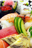Sushi and nigri plate Royalty Free Stock Images