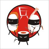 Sushi ninja Royalty Free Stock Image
