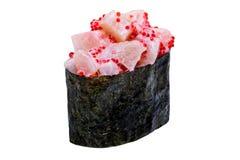 Sushi in nori leaf isolated on white background Stock Photo