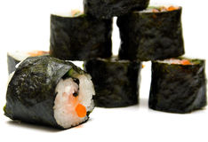 Sushi nori on a white Stock Image