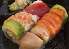 Sushi och ris Royaltyfri Fotografi