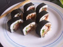 Sushi ocidental imagens de stock