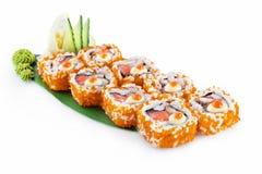 Sushi Okinava isolato su fondo bianco fotografie stock libere da diritti
