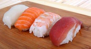 Sushi On Tray Royalty Free Stock Photo