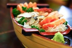 Sushi på plattan Fotografering för Bildbyråer