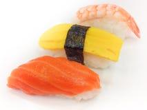 Sushi på plattan Royaltyfri Fotografi