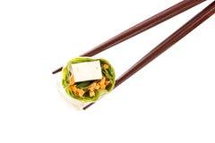 Sushi på vit Royaltyfria Bilder