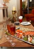 Sushi party setting Stock Photos
